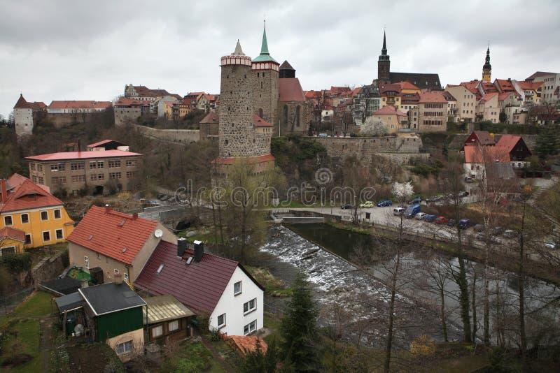 Bautzen övreLusatia, Sachsen, Tyskland royaltyfri foto