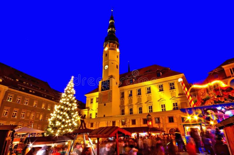 Bautzen Kerstmismarkt stock afbeeldingen