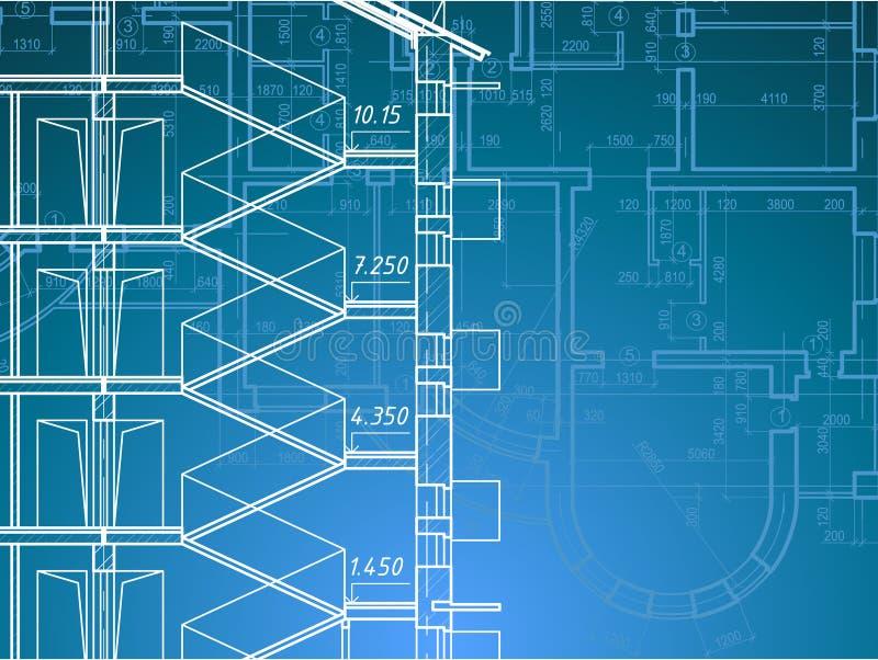 Bauunternehmen-Plan lizenzfreie abbildung