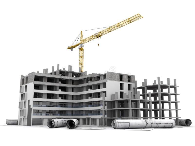 Bauvorhaben laufend vektor abbildung