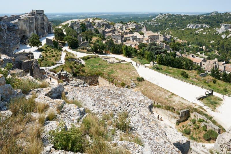 baux de γαλλική περιοχή της Προβηγκίας les μεσαιωνική στοκ εικόνες