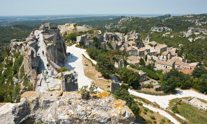 baux de γαλλική περιοχή της Προβηγκίας les μεσαιωνική στοκ φωτογραφία με δικαίωμα ελεύθερης χρήσης