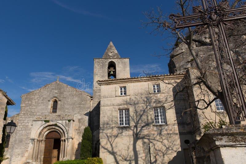 Baux de Provence kościół 3 obrazy stock
