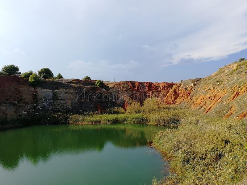 Bauxietmeer in Otranto royalty-vrije stock afbeelding
