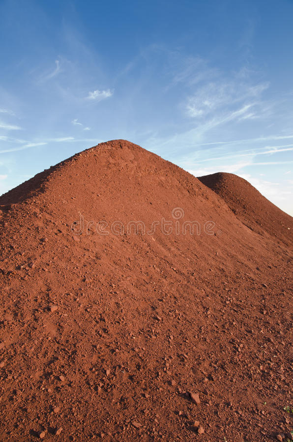 Download Bauxite Hill At The Sunset-Spinazzola-Italy Stock Photo - Image: 25483518