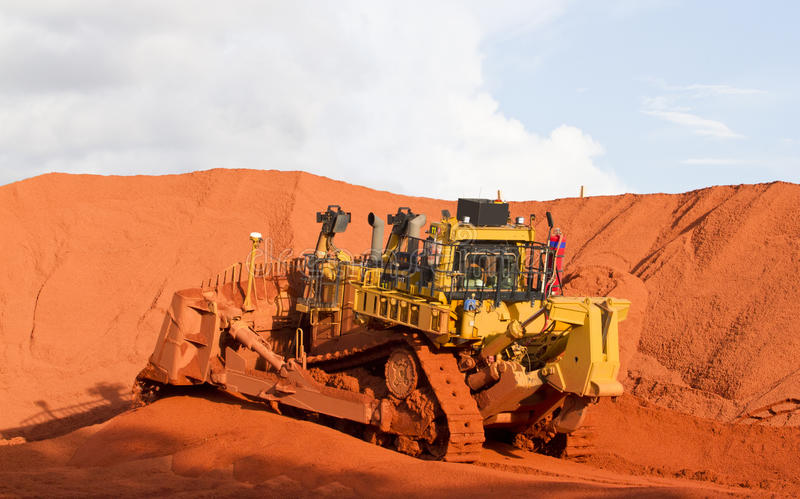 Bauxite mining stock photography