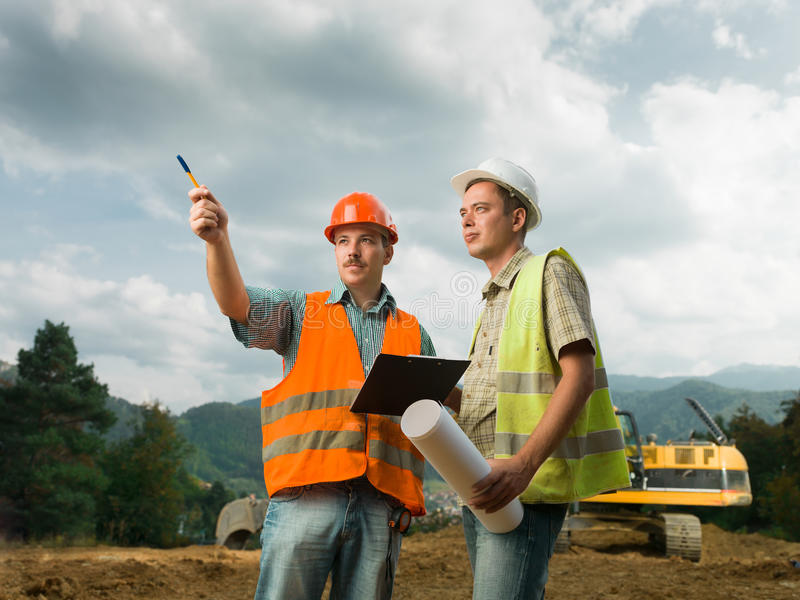 Bauzusammenarbeit lizenzfreie stockfotos