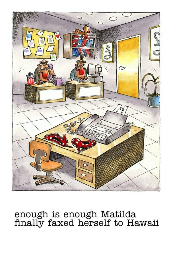 Bavaglio del fumetto circa vita dell'ufficio illustrazione vettoriale