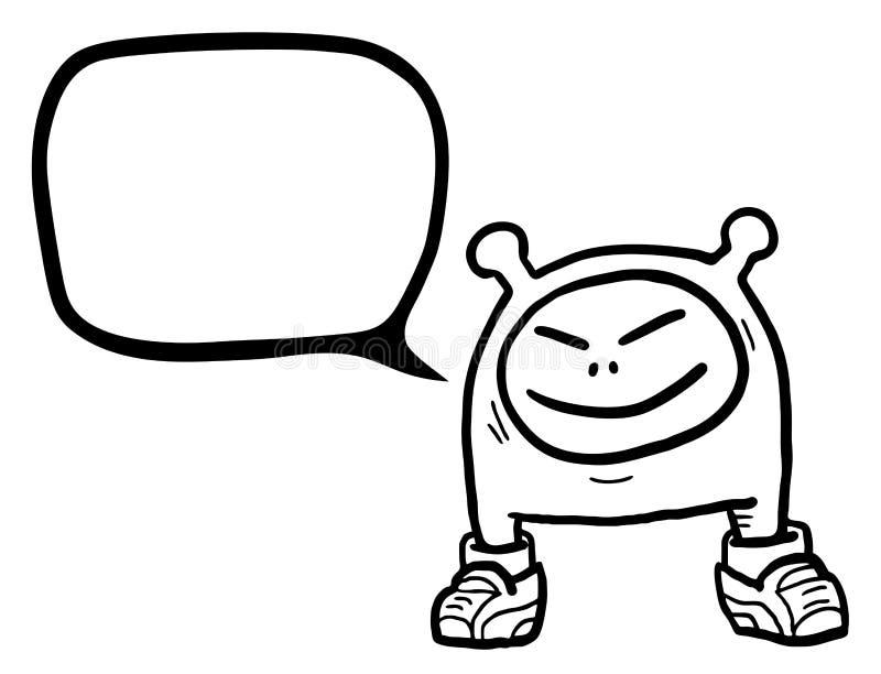 Bavard comique illustration de vecteur