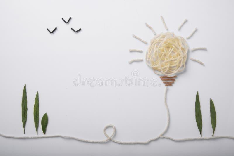 Bavardez l'ampoule, concept de nouvelles idées avec l'innovation photographie stock libre de droits