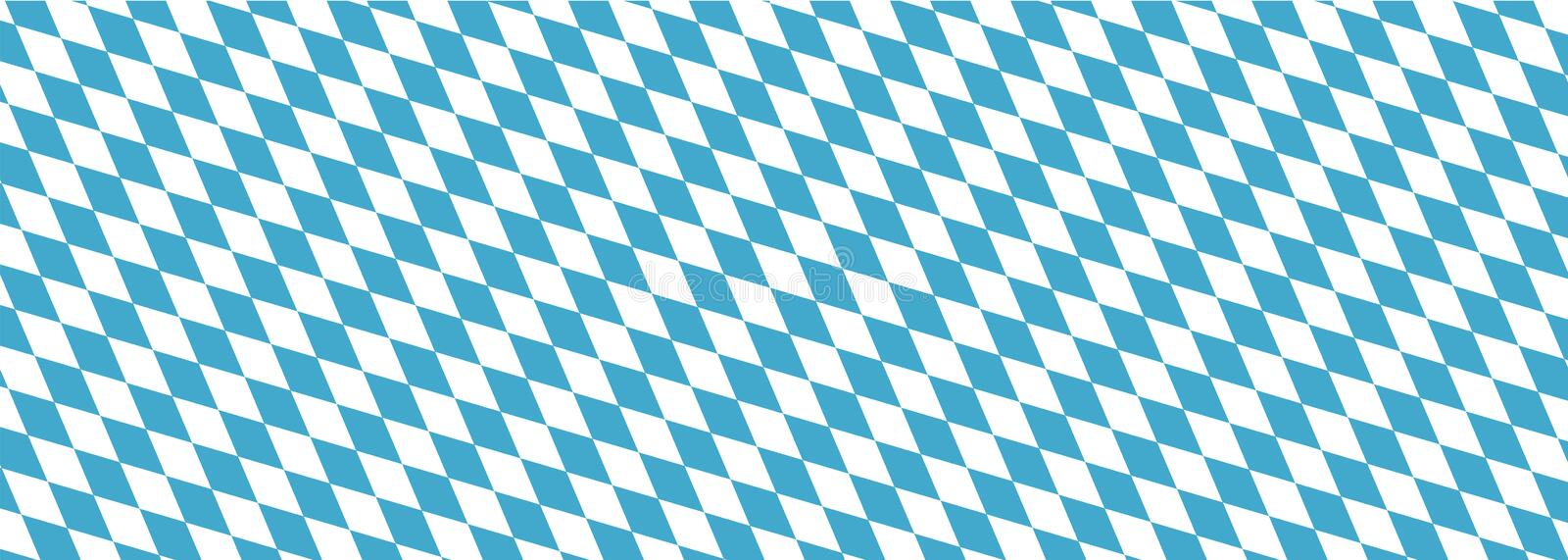 Bavaria background texture. Typical background texture of german bavarian culture vector illustration