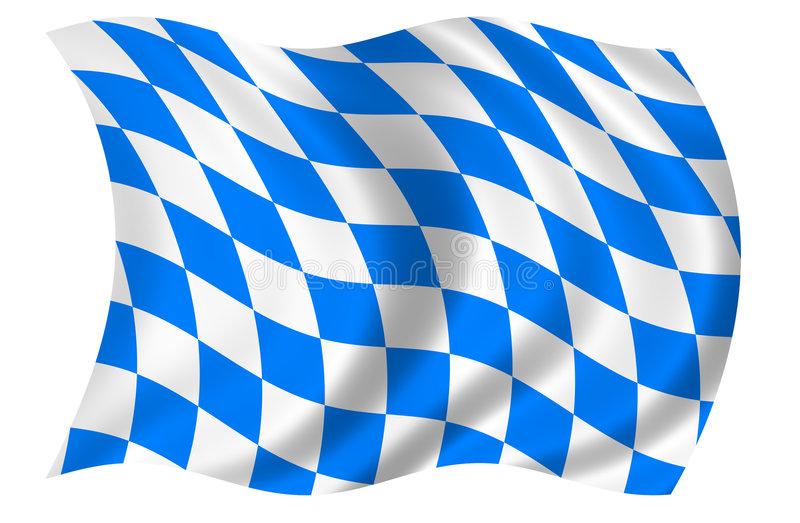 Bavaria Flag vector illustration