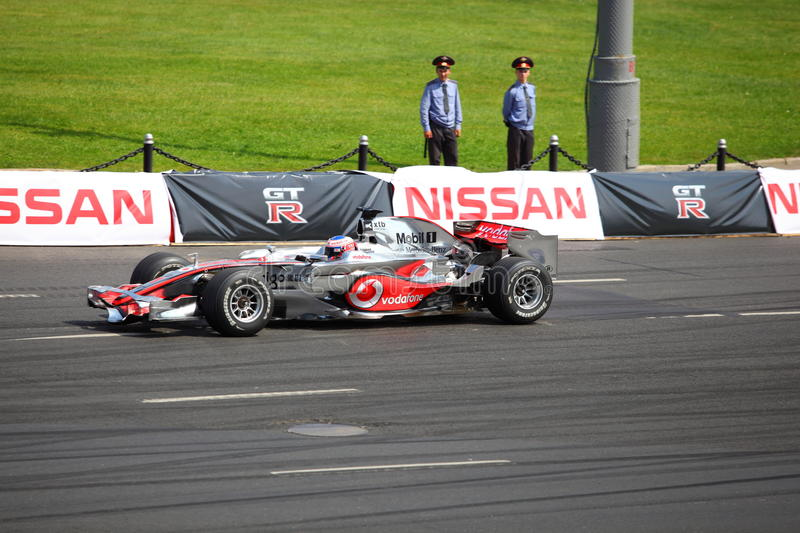 Download Bavaria Moscow City Racing 2010, Jenson Button Editorial Stock Image - Image: 15215299