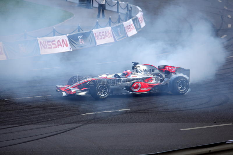Download Bavaria Moscow City Racing 2010, Jenson Button Editorial Stock Image - Image of competition, renault: 15215414