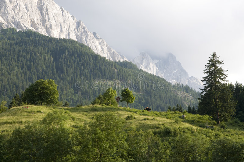 Download Bavarian Alps With Zugspitze Stock Photo - Image: 5586940