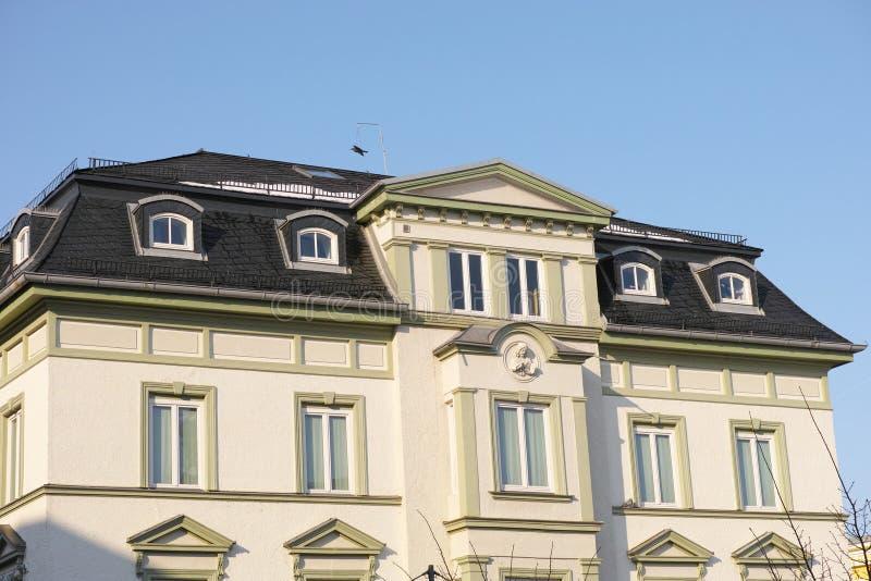 Bavarian Art Nouveau. Freshly renovated Art Nouveau house in bavaria stock image