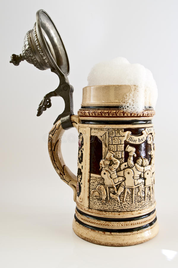 Bavarian beer stein royalty free stock photo