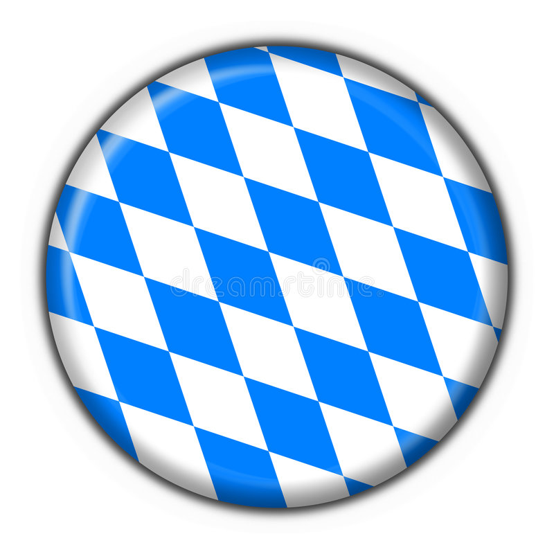 Bavarian Button Flag Round Shape Royalty Free Stock Photography