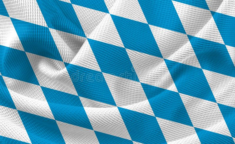Bavarian Checkered Flag Table Cloth Material Texture Background royalty free stock images