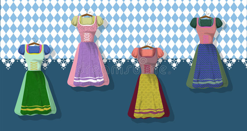 Bavarian clothing: Dirdle vector illustration