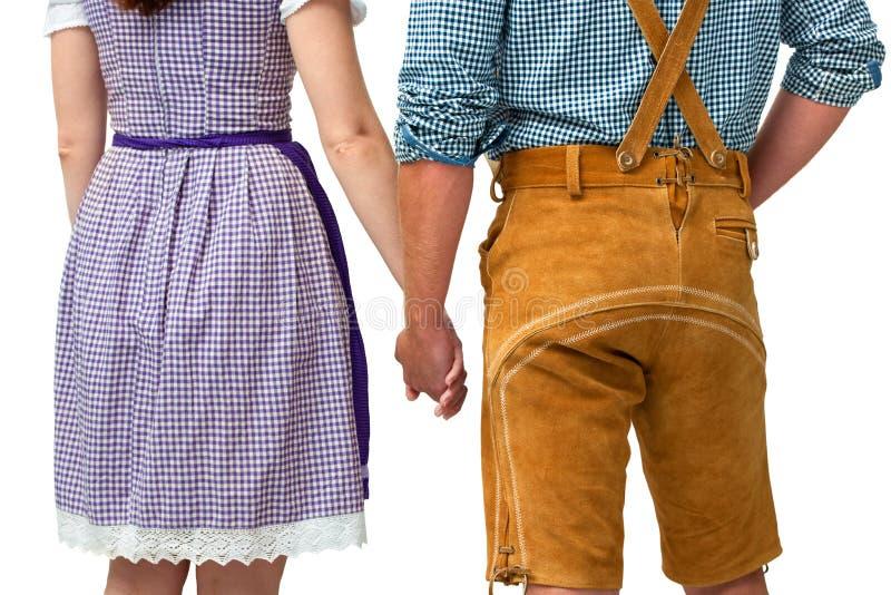 Bavarian couple stock photos