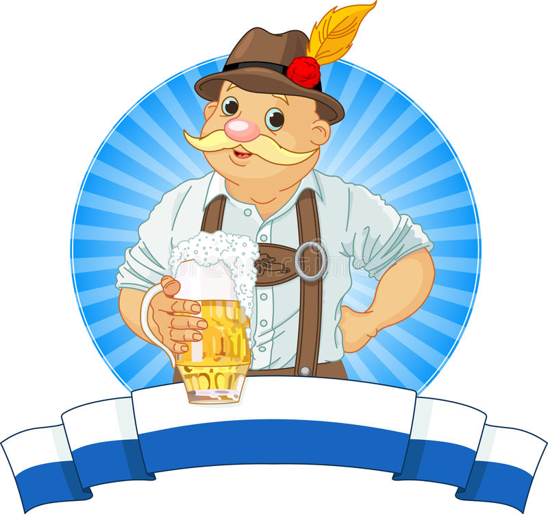 Bavarian Di Oktoberfest Immagine Stock