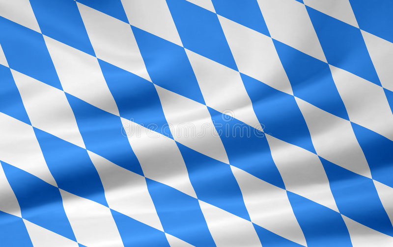 Bavarian Flag. Very large version of a bavarian flag. This flag contains the a non official number of lozengies but is accepted widely for a universial use for stock illustration