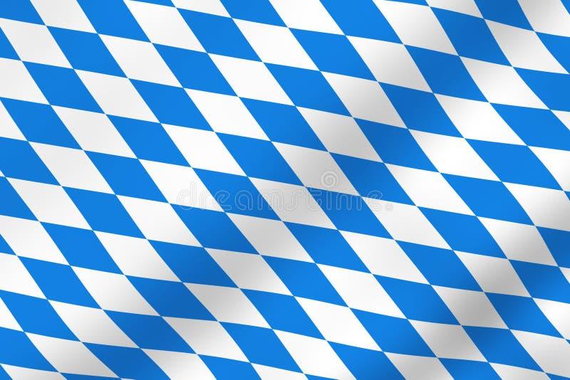 Bavarian flag. As a symbol vector illustration
