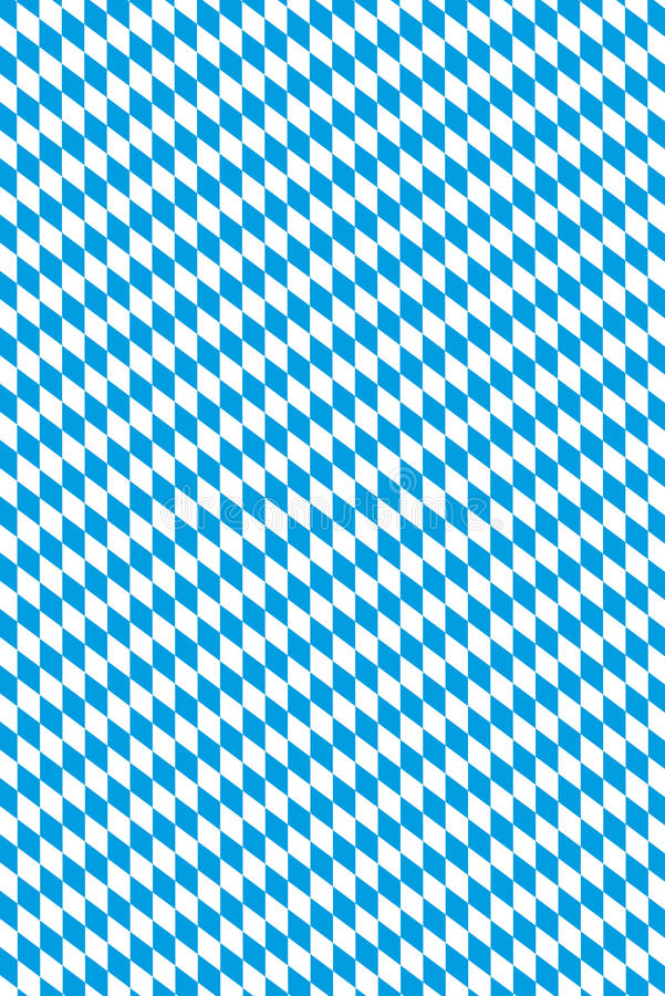 Bavarian flag. Oktoberfest in Germany - original bavarian diamond pattern stock illustration