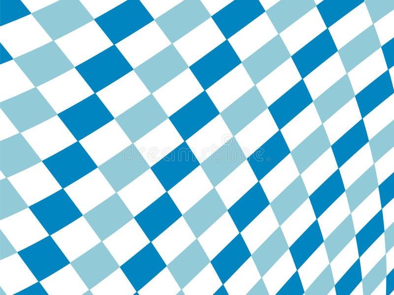 Bavarian flag pattern background. Backdrop design for Oktoberfest. royalty free illustration