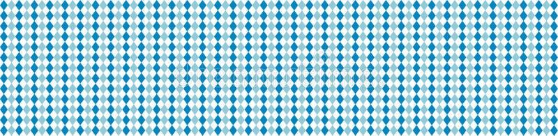 Bavarian flag pattern background. Banner design for Oktoberfest. royalty free illustration