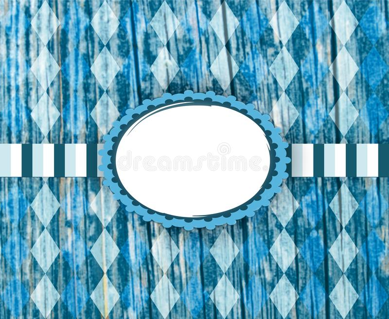 Bavarian flag pattern. Traditional fabric texture. Oktoberfest background. royalty free stock images
