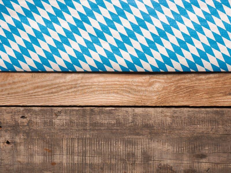 Bavarian flag on rustic wood stock photography