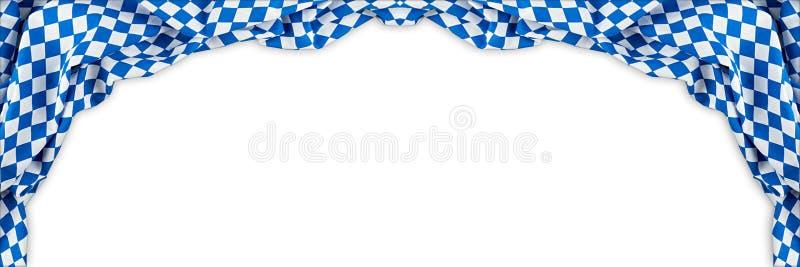 Bavarian flag wide panorama oktoberfest background royalty free stock photo