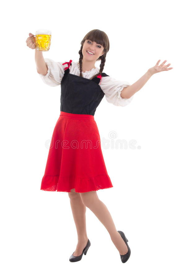 Bavarian Girl With Cup Of Beer Stock Image