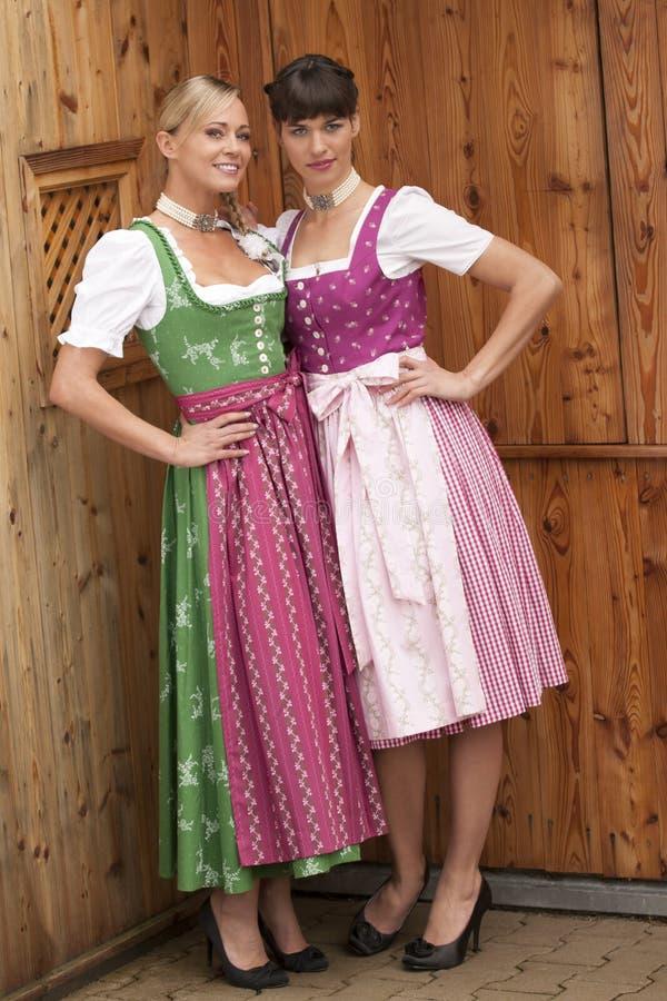 Bavarian Girls In Costume Stock Photo