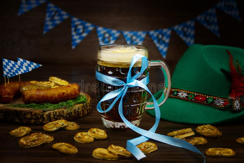Ready for october beer festival in autumn october month in germany royalty free stock photos