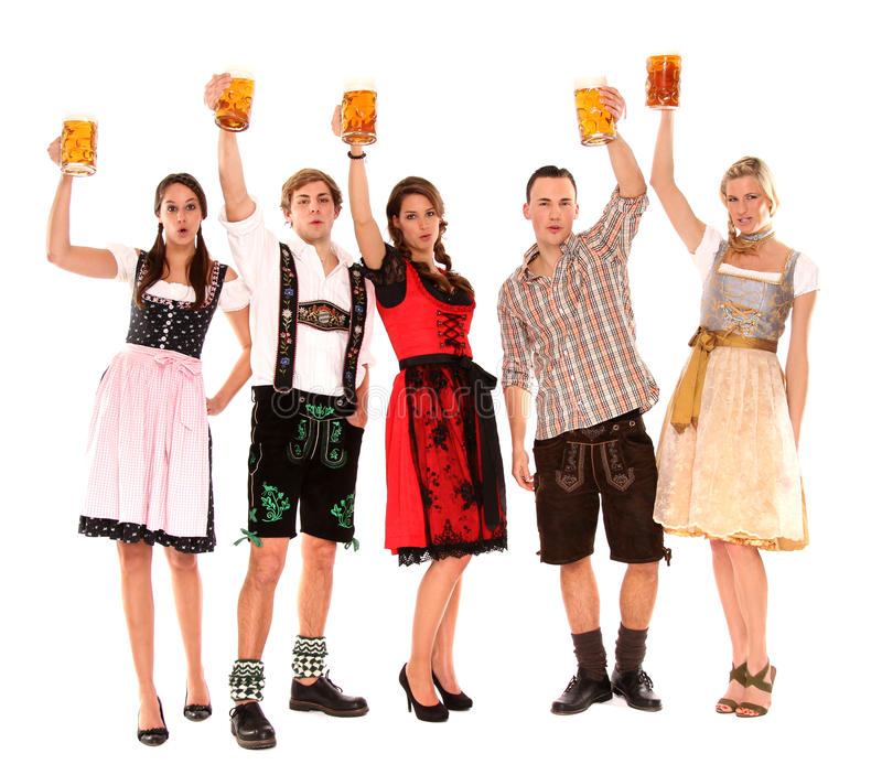 Download Bavarian group stock photo. Image of blond, friends, beer - 17518700