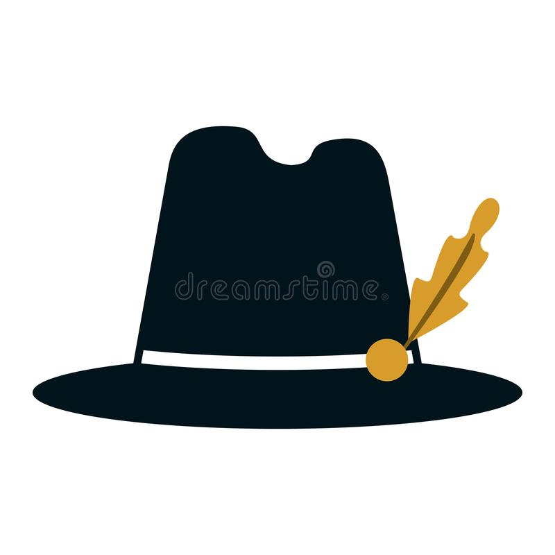 Bavarian hat cap. Vintage vector illustration graphic design vector illustration