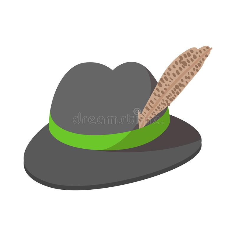 Bavarian hat cartoon icon. On a white background stock illustration