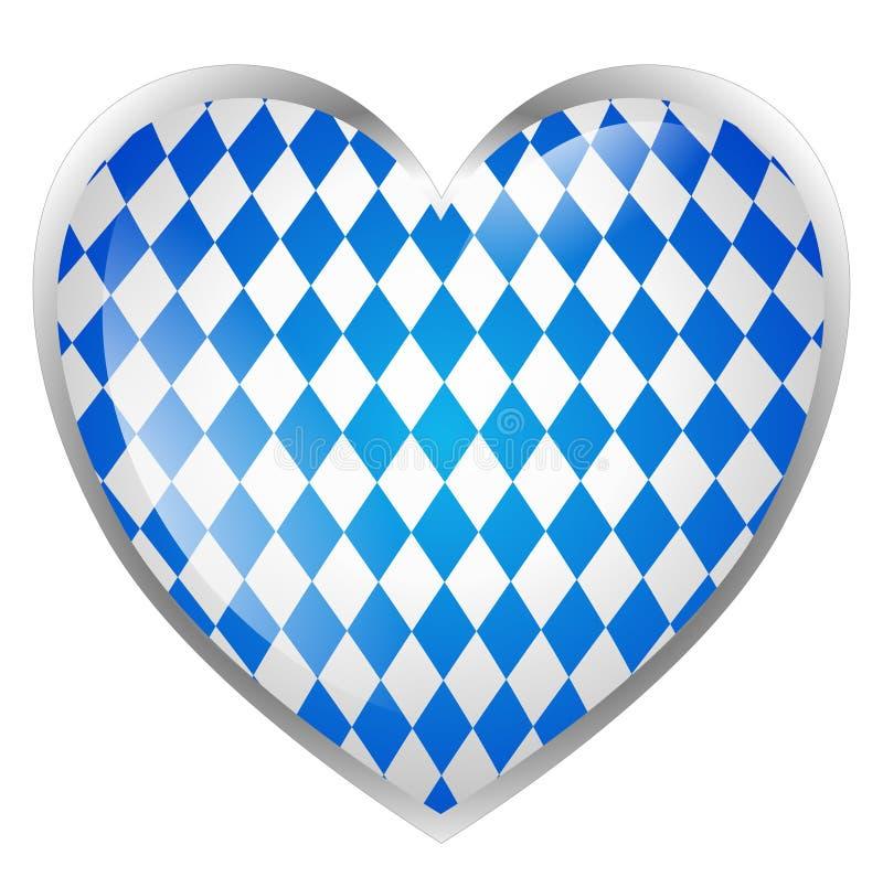 Bavarian heart isolated. On white background stock illustration