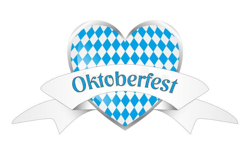 Bavarian heart isolated. On white background vector illustration