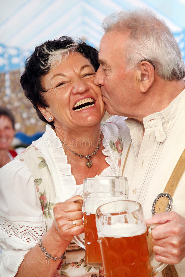 Bavarian Kiss stock photos