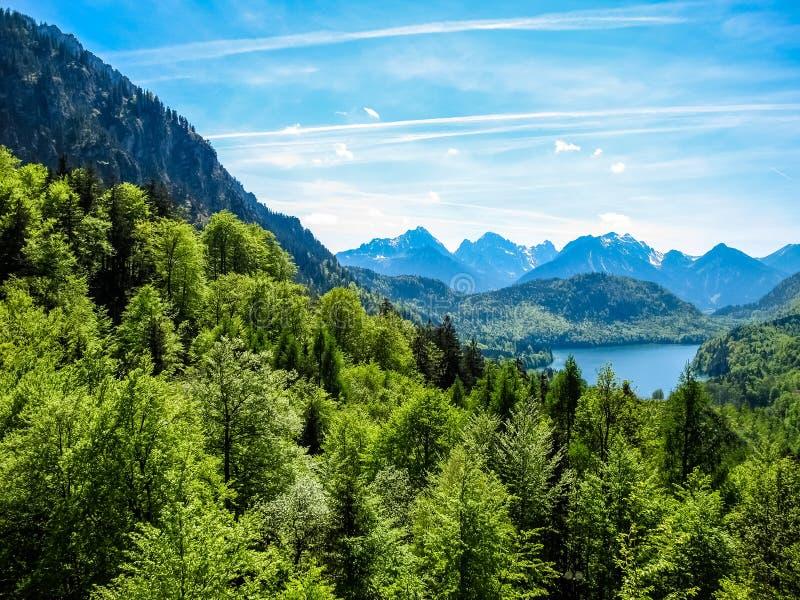 Bavarian landscape royalty free stock photos