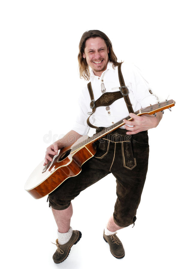 Bavarian Musician royalty free stock image