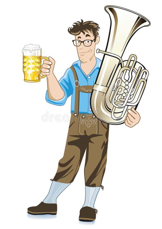 Download Bavarian Musician With Tuba Stock Photo - Image: 25926674