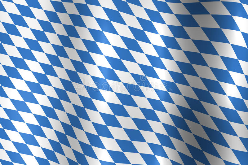 Bavarian Oktoberfest flag stock illustration