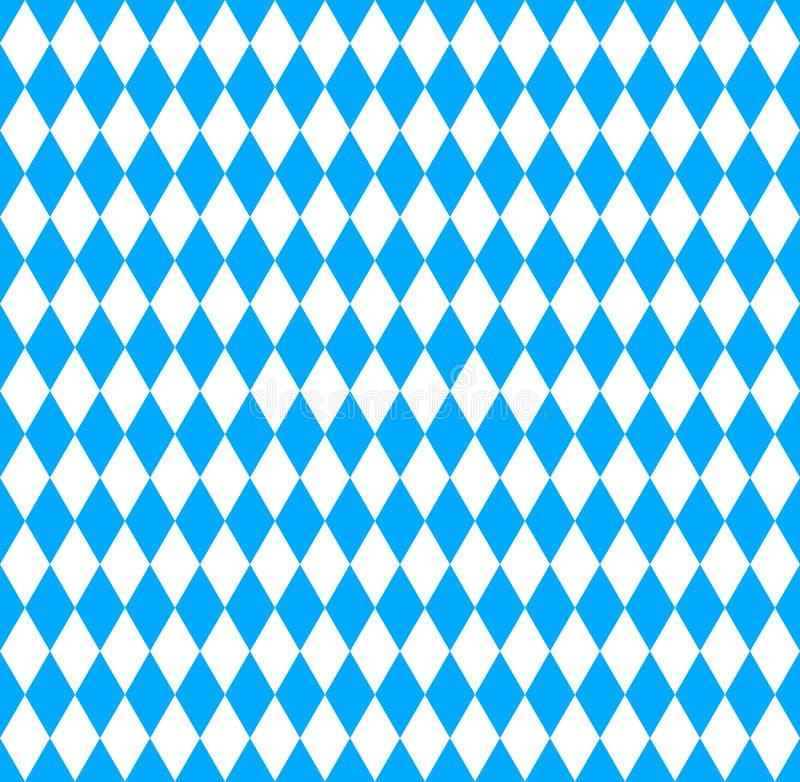 Bavarian Oktoberfest flag symbol. Seamless wallpaper. Bavarian Oktoberfest flag symbol royalty free illustration