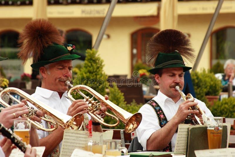Bavarian open air concert stock photo
