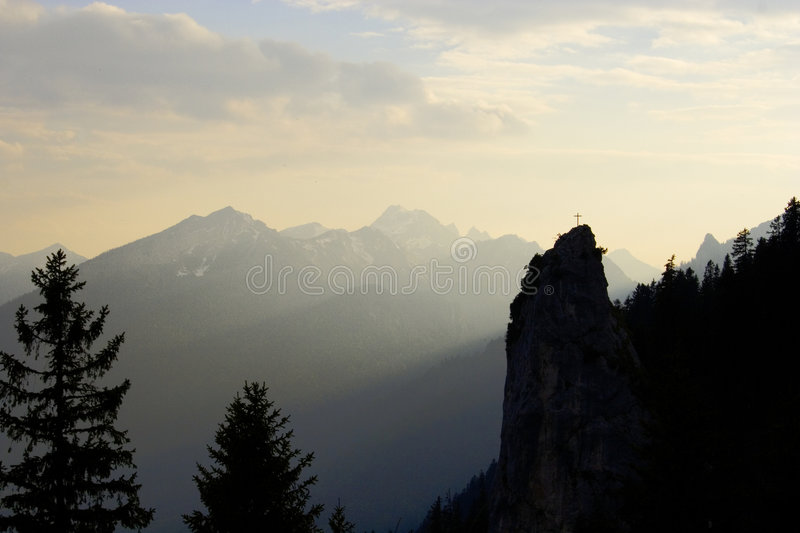 Bavarian peak royalty free stock photography